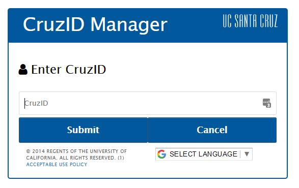 CruzID Passwords