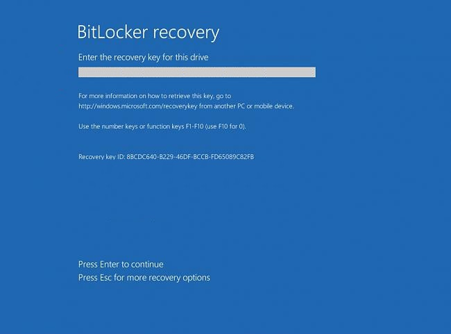 Key Stuck In Lock >> Windows BitLocker Encryption