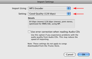 Converting m4a to mp3 in iTunes