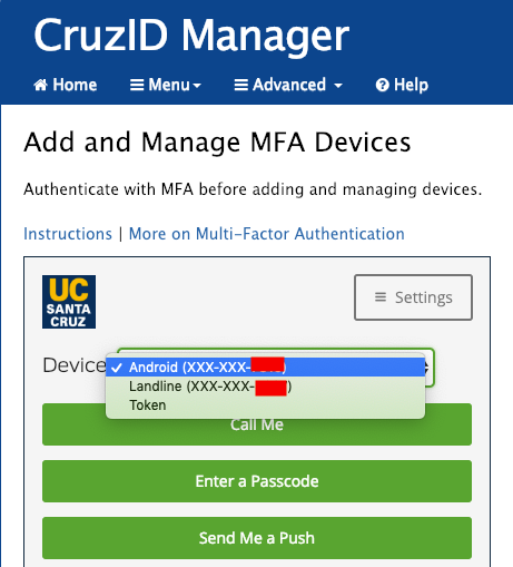 Add or Manage Devices